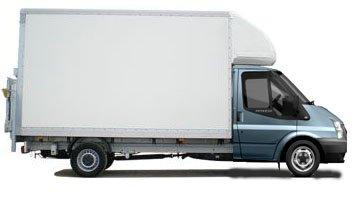 Man and Luton Van in London